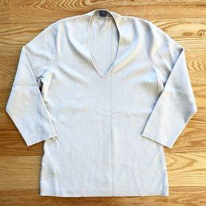 Classic beige / cream-colored silk sweater